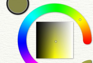 Tap and drag Color Picker ArtRage for iPad 2.0