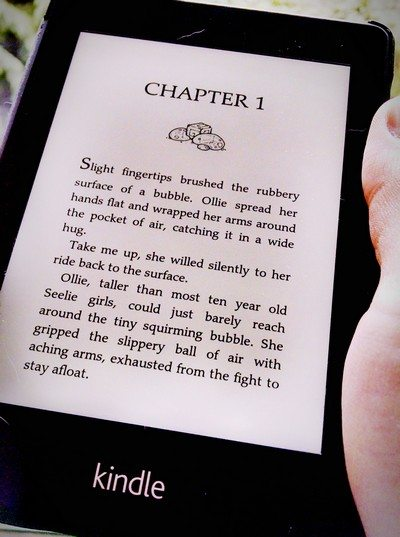 Kindle screenshot of Cindercast by Michael Blackbourn