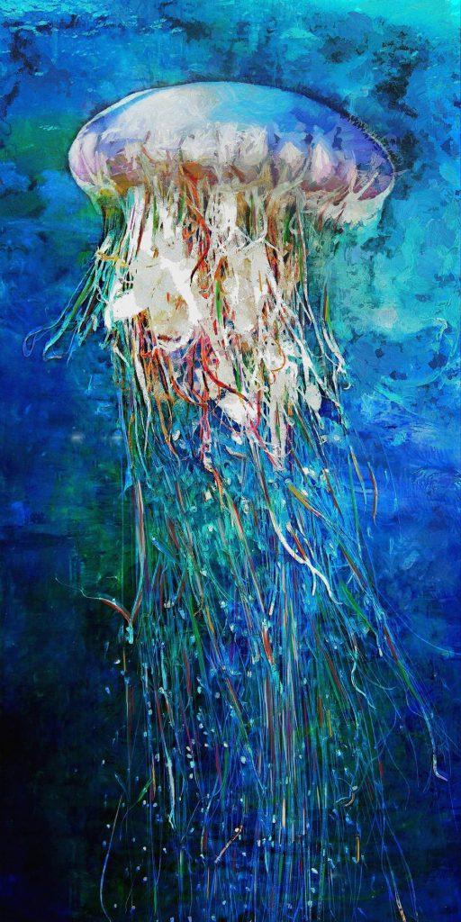 Jellyfish 10x20 Brian Coffey Featured ArtRage Artist
