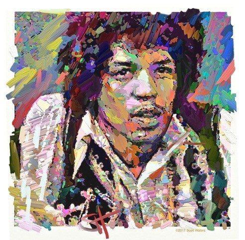 Jimi 3  ArtRage iPad artist Dean Scott Waters