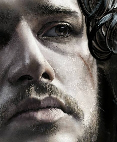 Jon Snow (Detail) by Teoman Mete CAKICI