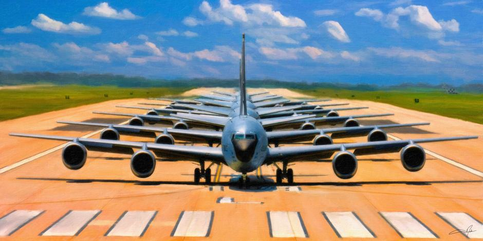 KC-135R Elephant Walk-painting-small Dale Jackson Strato Art ArtRage Artist