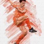 'Van Basten' for Mundial Magazine, L'Art Du Foot Exhibition ArtRage artist Phil Galloway small