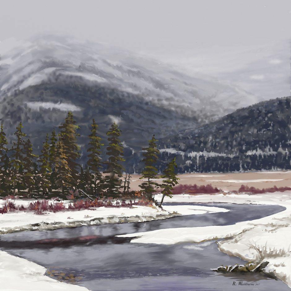 Lamar Valley by Randel Washburne