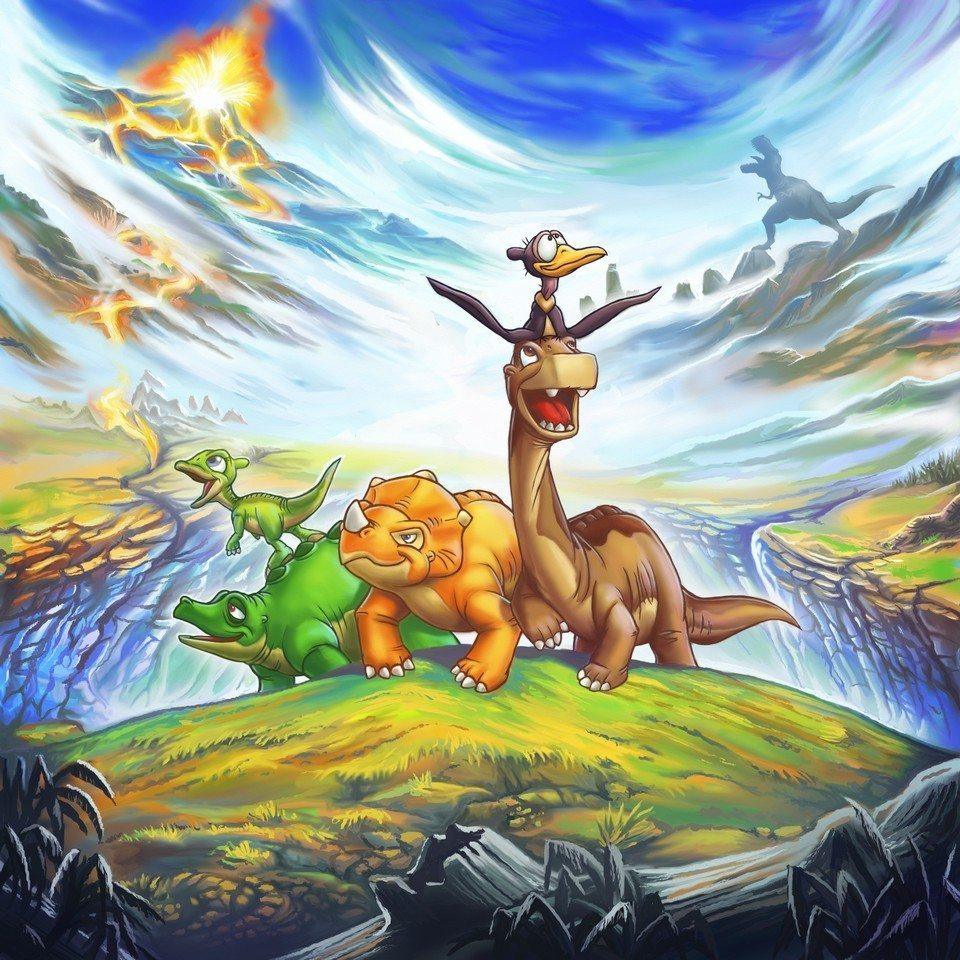 Land Before Time (personal piece for niece) by Jon Davies