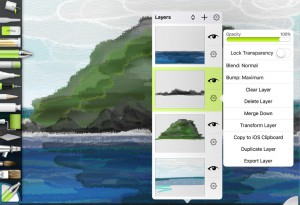 Layer Options for ArtRage for iPad 2.0