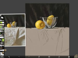 Lemon Study Sketch by Shelly Hanna