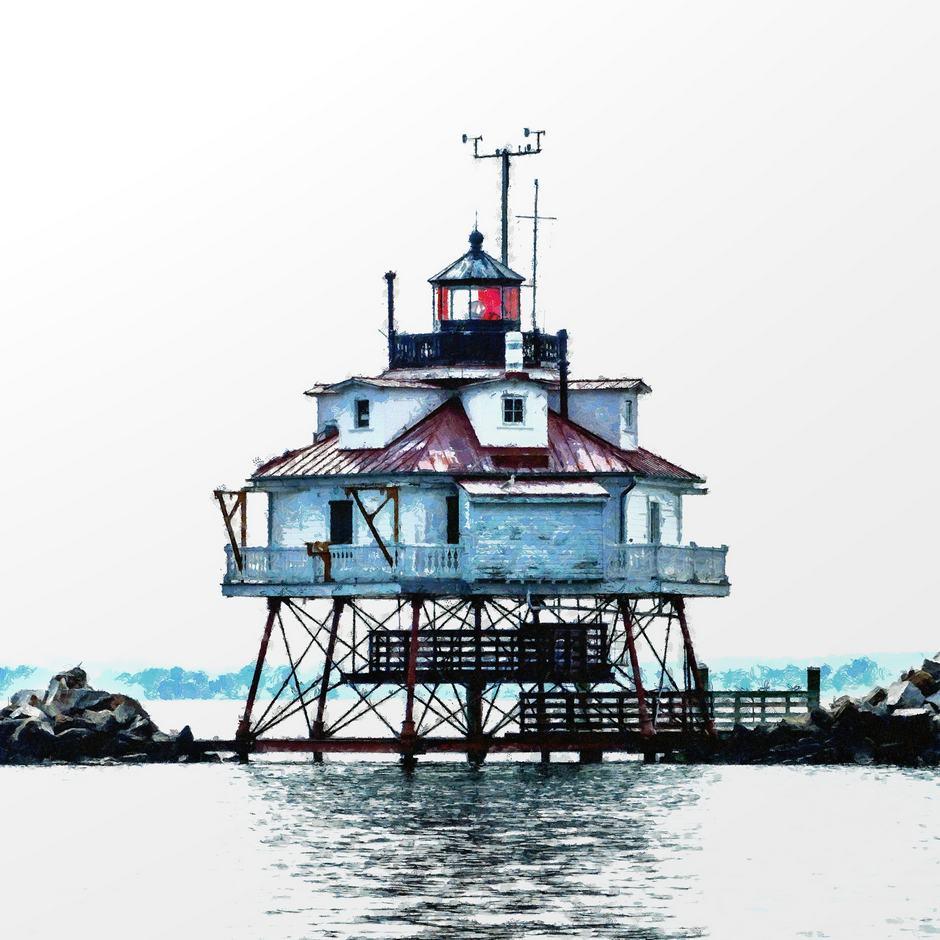 Lighthouse 12x12 Brian Coffey Featured ArtRage Artist