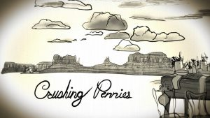 """""""Crushing Pennies"""": Teddy Gage still image from 'Painted Titles for a Song"""""""