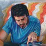 Man and Device artrage art by Ramona MacDonald