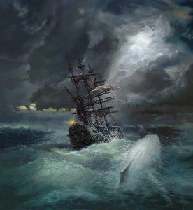 Moby Dick illustration by Sergey Shikin
