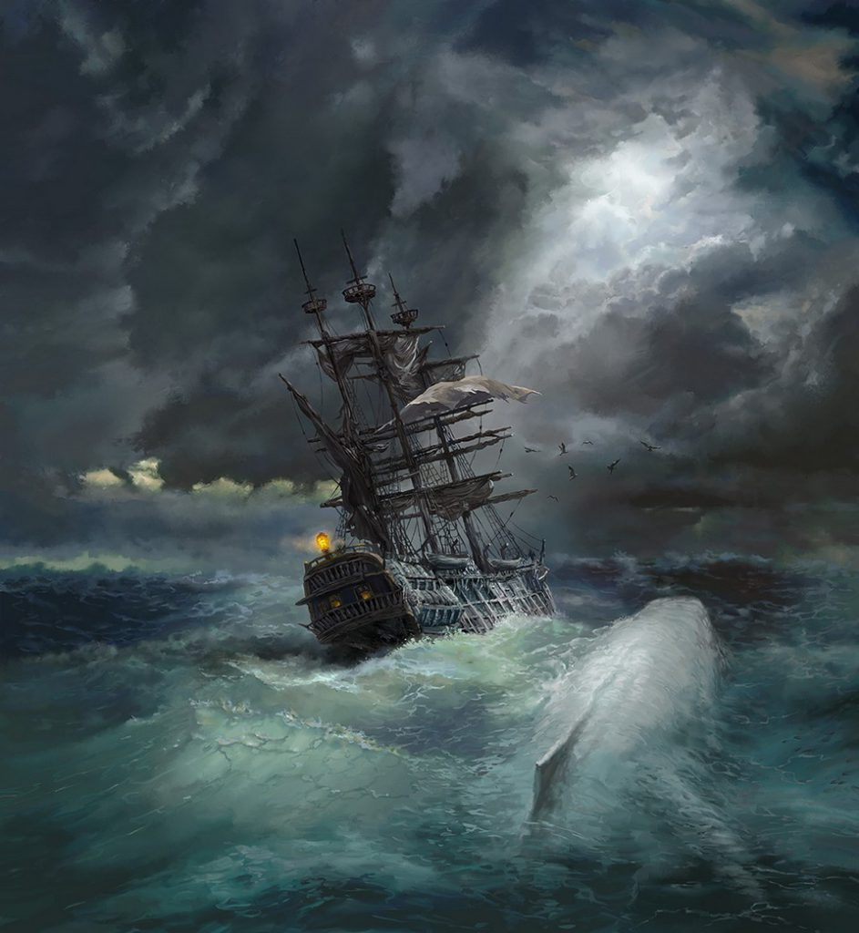 Moby Dick illustration by Sergey Shikin
