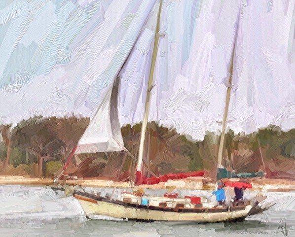 Outbound 72 ArtRage iPad artist Dean Scott Waters