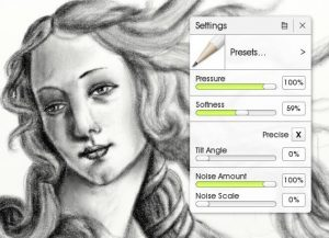 Pencil Settings in ArtRage 5