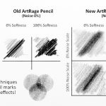 Comparison of pencil shading options in ArtRage 5