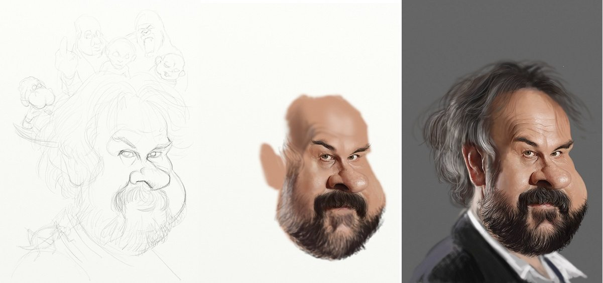 Peter Jackson sketch and WIPs