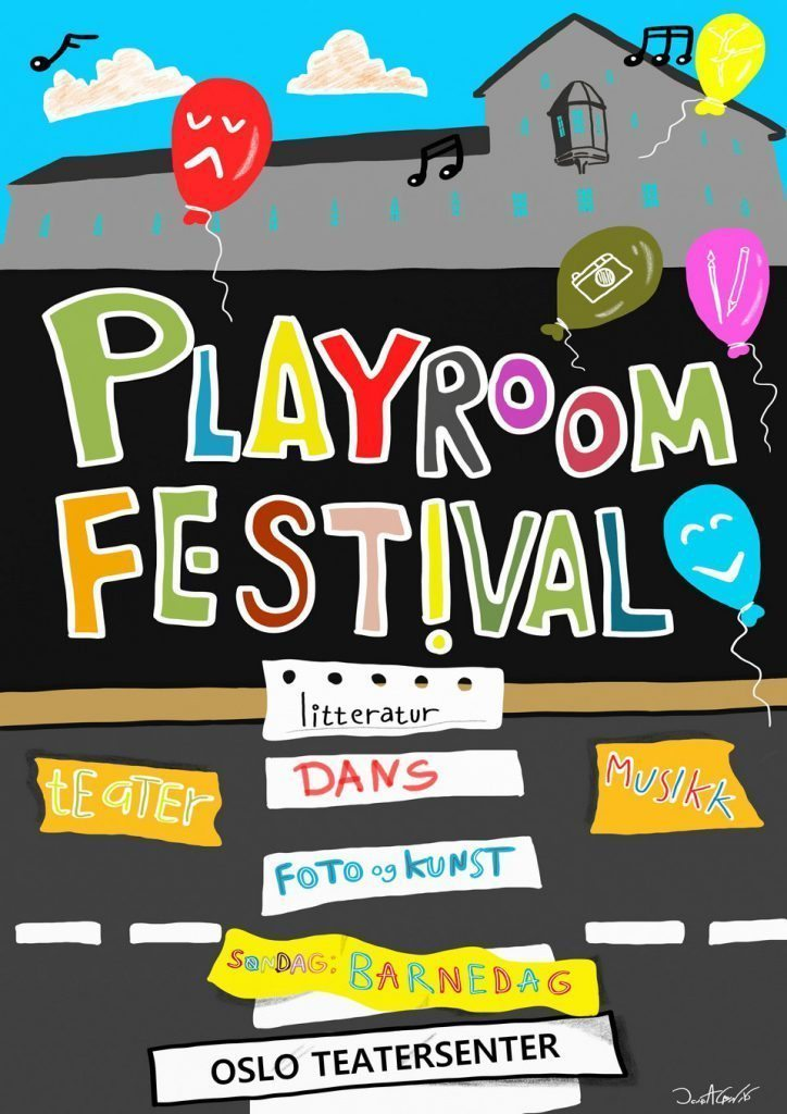 Playroom Festival Poster by Jonas A Larsen