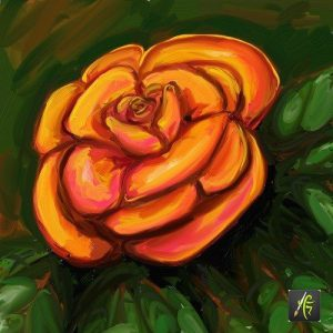A rose painted in ArtRage Oil Painter Free