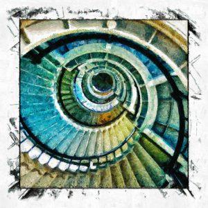 Spiral Staircase Brian Coffey Featured ArtRage Artist