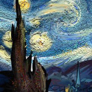 Starry Night van gogh artrage glitter tube artrage 5