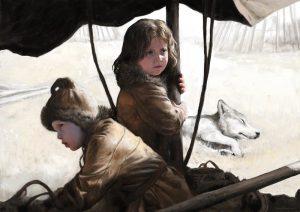 Stone Age children by Tom Björklund