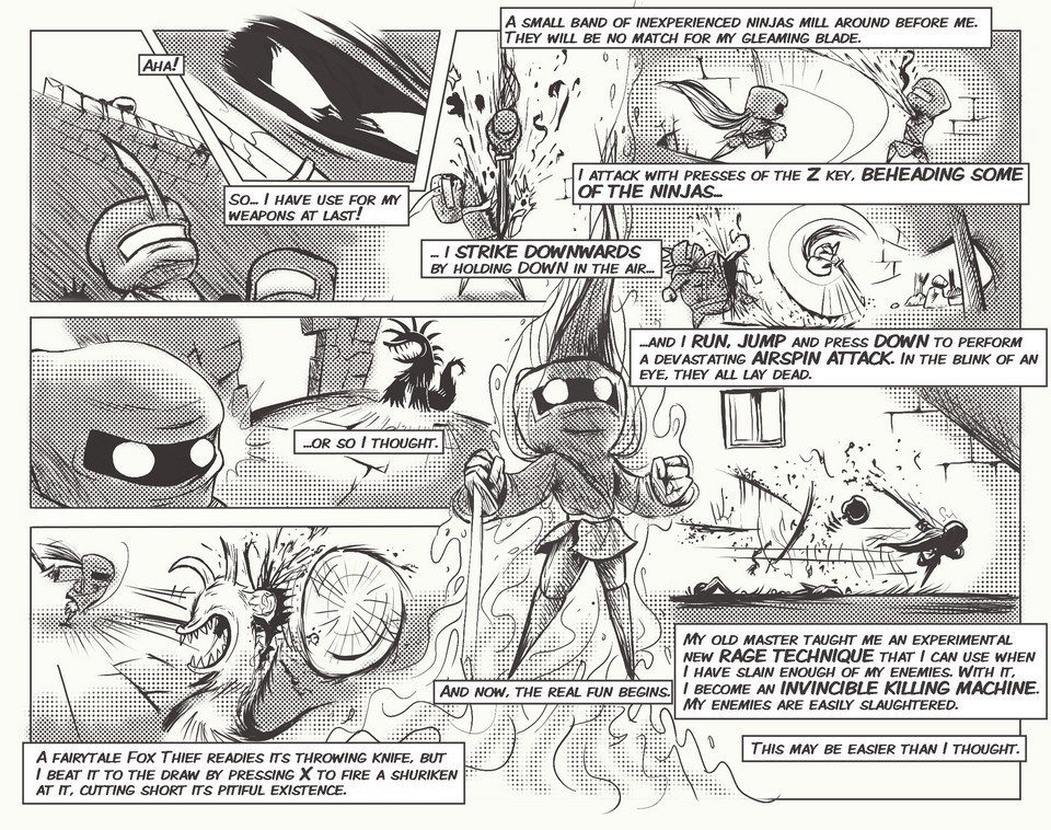 Super House of Dead Ninjas story comic (promotional art, Adult Swim Games) (1) by Jon Davies