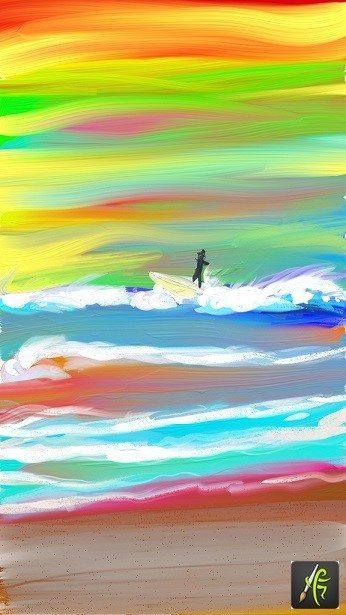 Surfer ArtRage Oil Painter Free Art