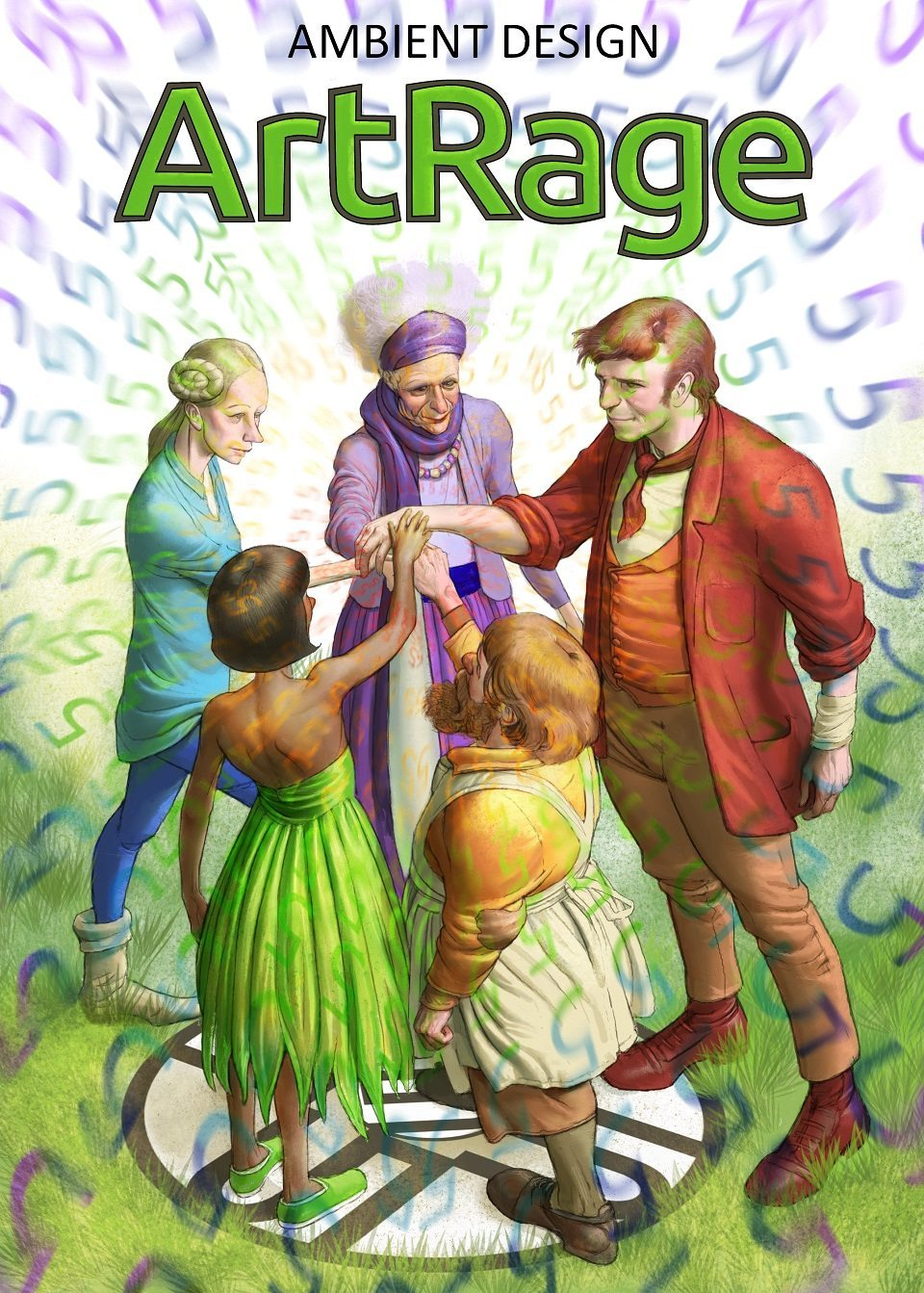 "The final illustration of  ""The ArtRage Five"""