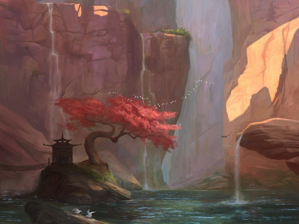 The Canyon by Steve Goad ArtRage 5 1