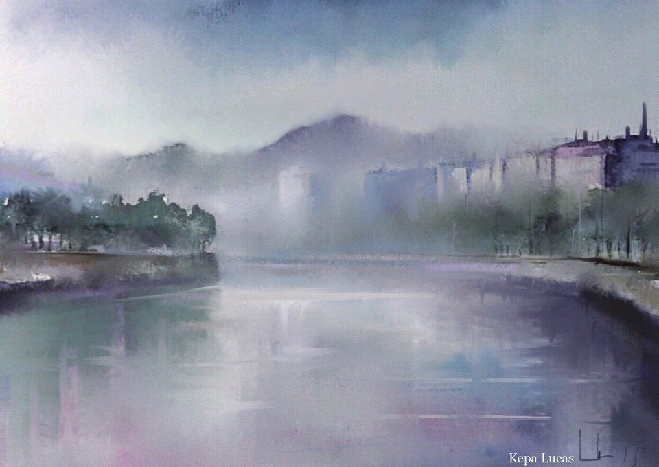 The river and the city by Kepa Lucas