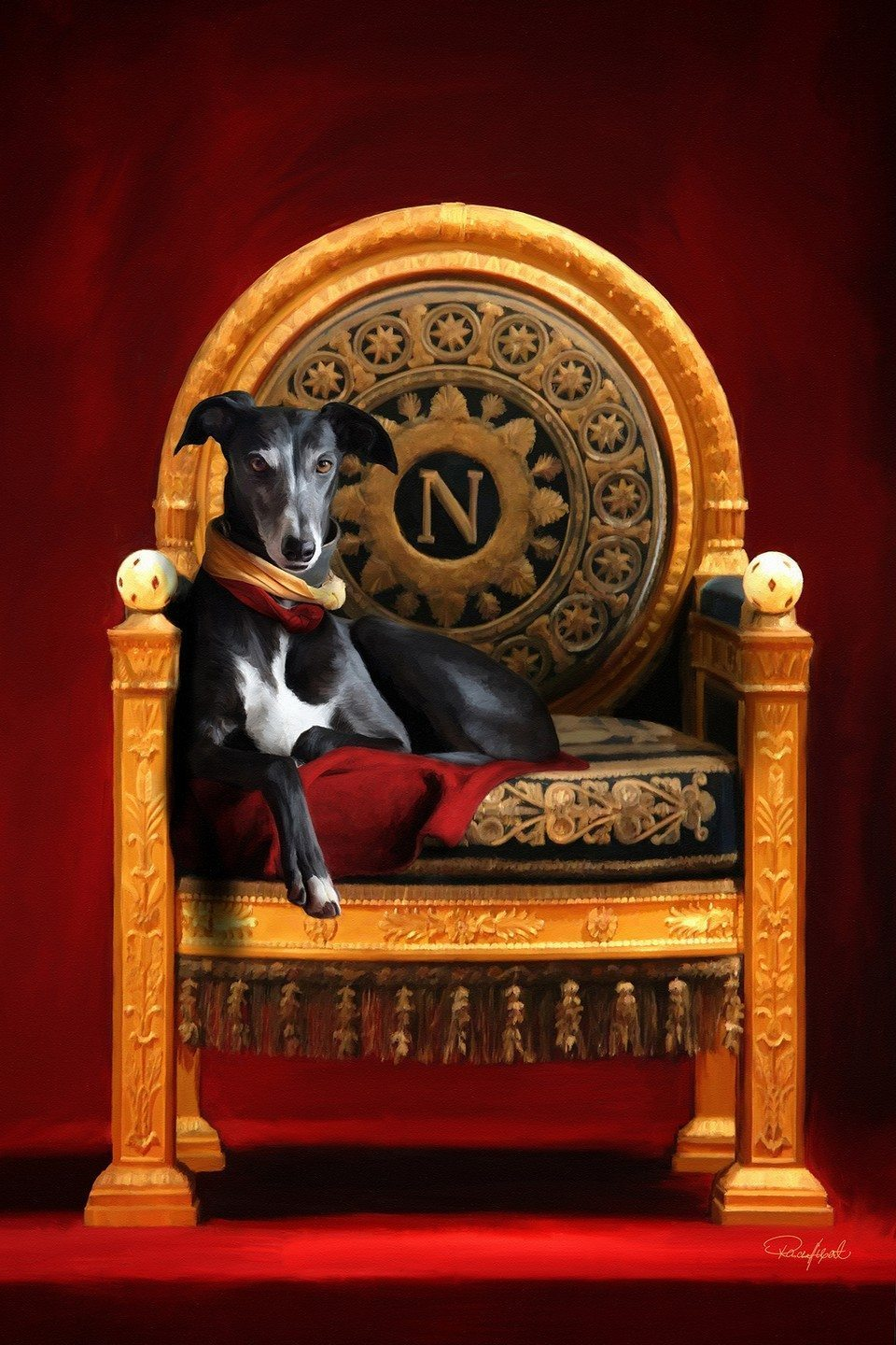 The Malemuck On Napoleon's Throne artrage art by Stephen Rasche-Hilpert