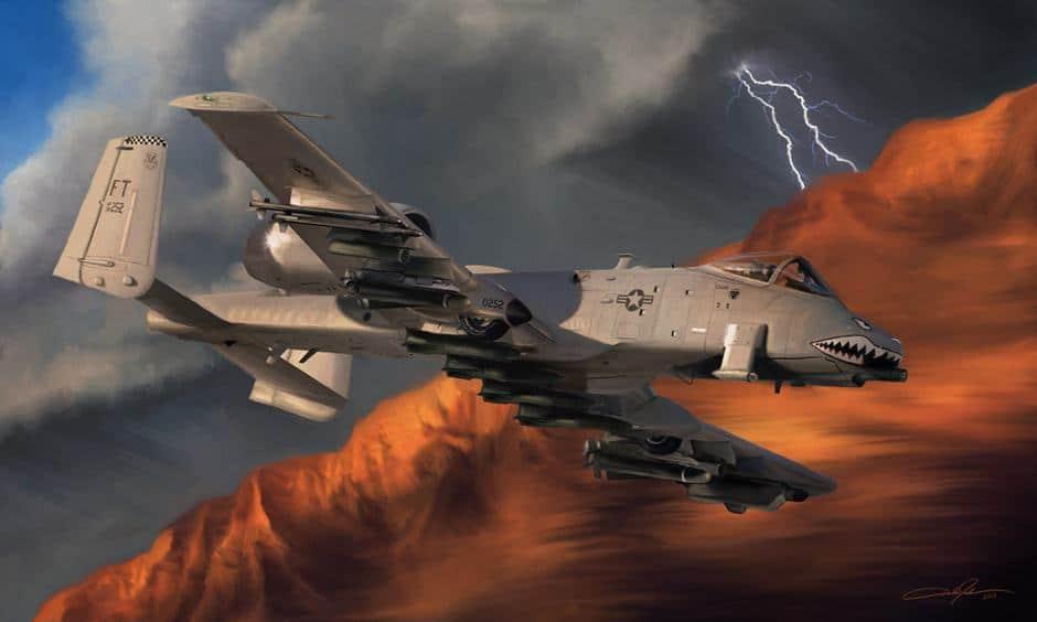 ThunderboltII-small Dale Jackson Strato Art ArtRage Artist
