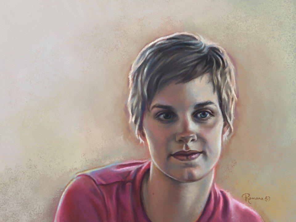 Tracy artrage art by Ramona MacDonald