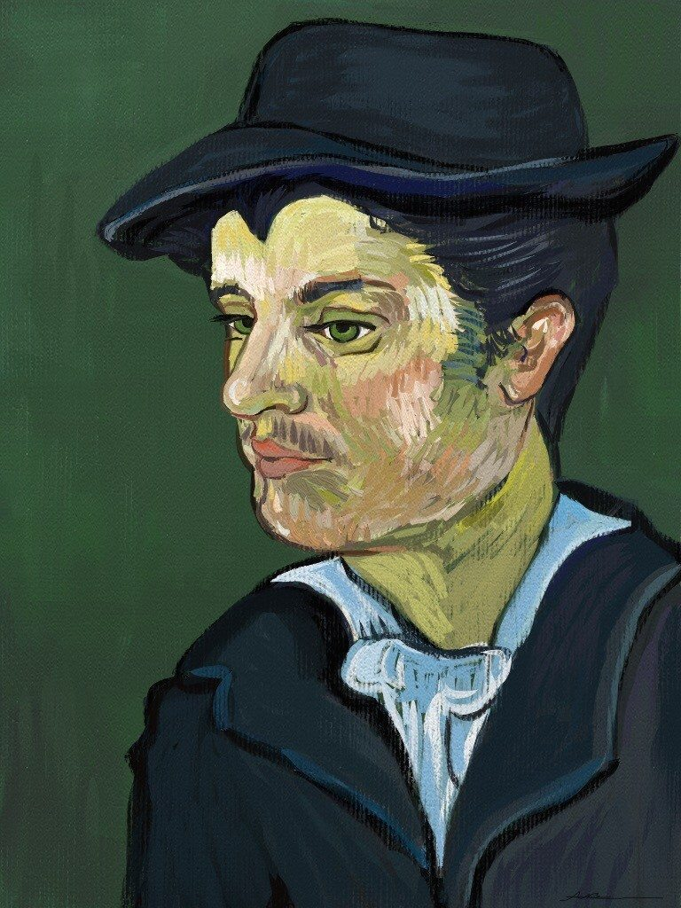 Van Gogh study face by Alex Bearne ArtRage iPad art