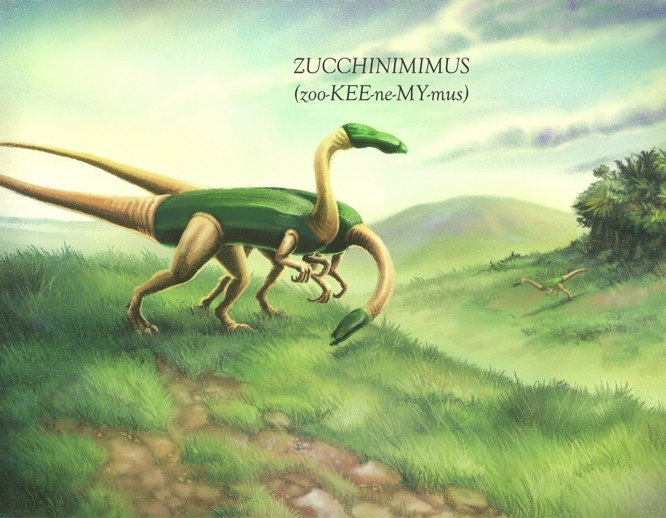 Illustration from Cucumbertops and Other Animals of the Veggiesaur Kingdom