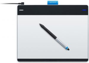 The Wacom Intuos Pen and Touch Medium Tablet comes with a free copy of ArtRage Studio