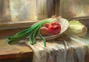 Still life Study Personal Work by Lothar Zhou