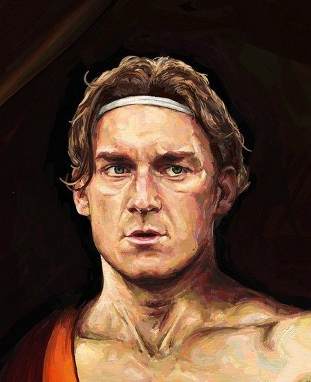 Young Totti (detail) ArtRage artist Phil Galloway small