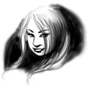 airbrush portrait sketch artrage