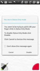 Android Stylus Only Mode