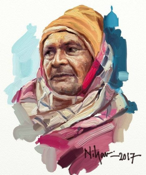 ArtRage (portrait) colourful portrait of a man by Nihar Das