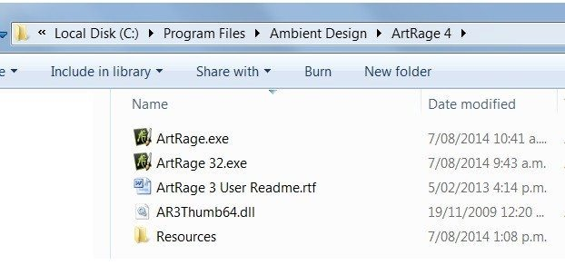 ArtRage32.exe on Windows 7