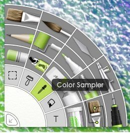 artrage 5 color sampler tool picker