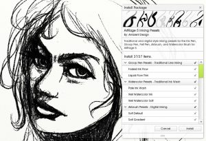 artrage 5 custom inking presets brush pack