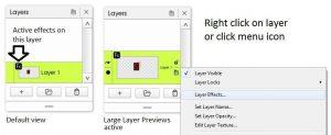 artrage 5 layer effects layer menu