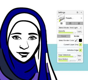 artrage 5 solid fill tool settings