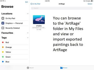 ArtRage My Files on iOS11