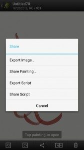 artrage for android script recording
