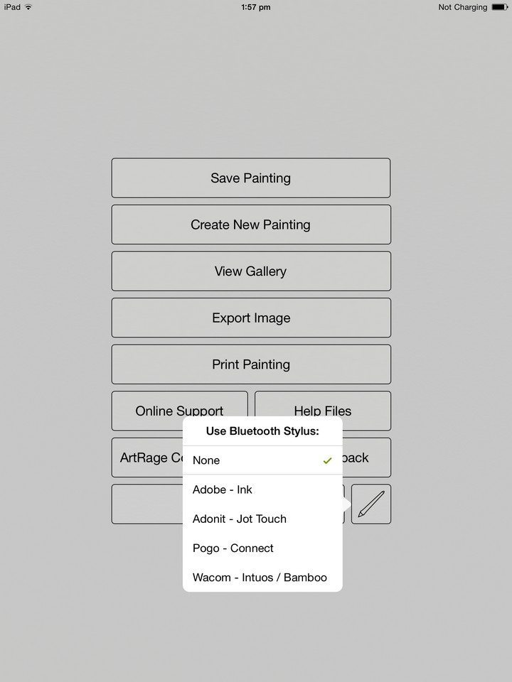 artrage for ipad 2.0 stylus options