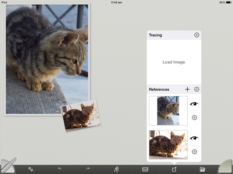 Tracing and References artrage for ipad 2.0 2